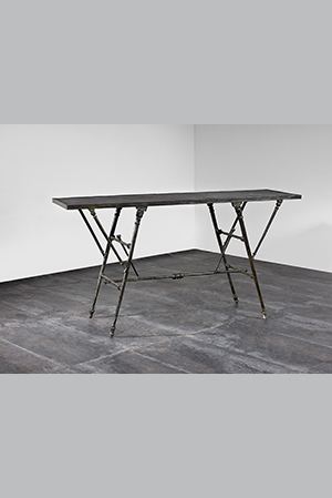 Jacques ANDRIEU - Table-console en bronze à patine brune